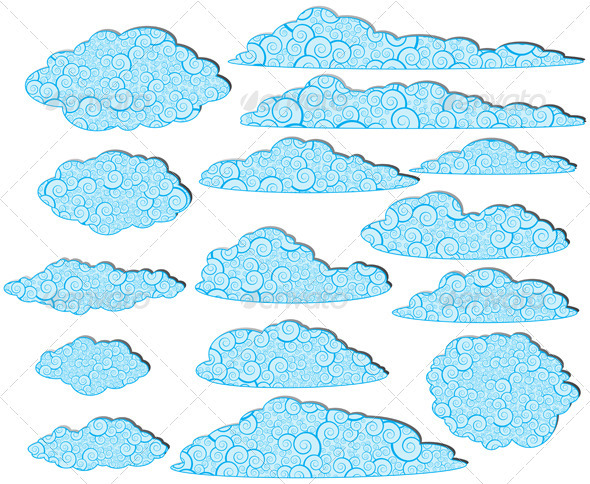 GraphicRiver Ornamented Clouds 3528223