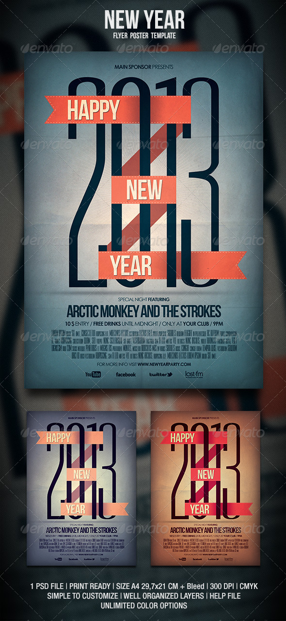GraphicRiver New Year Flyer Poster 3528405