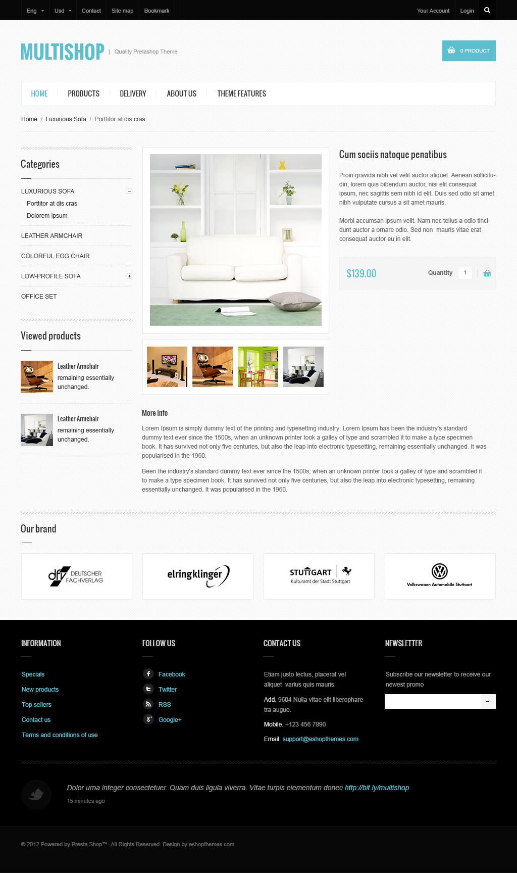 Multishop - Prestashop Theme