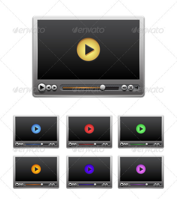 GraphicRiver Vector Media Player 3528999