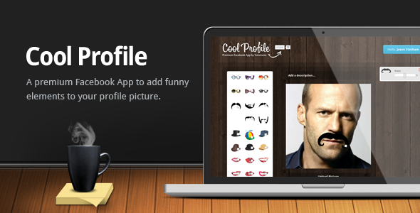 CodeCanyon Cool Profile Facebook App 132915