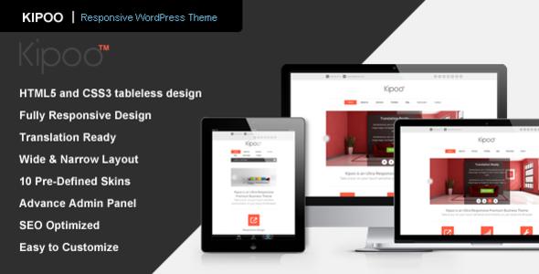 ThemeForest Kipoo Responsive Business WordPress Theme 3455869