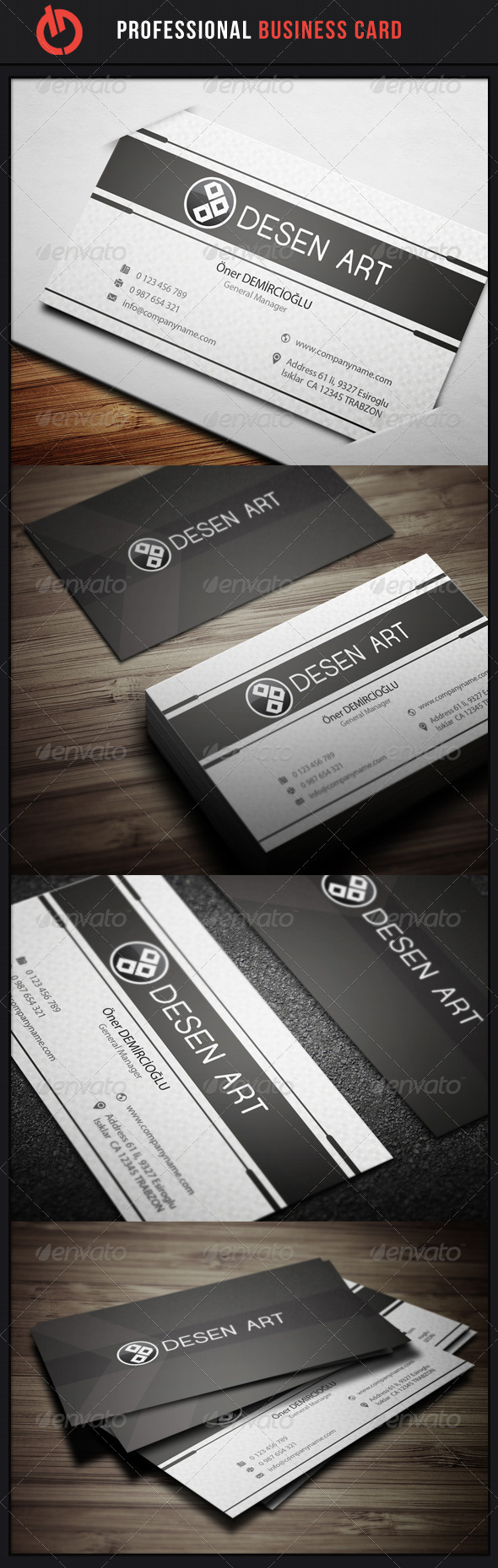 GraphicRiver Professional Business Card 8 3529172