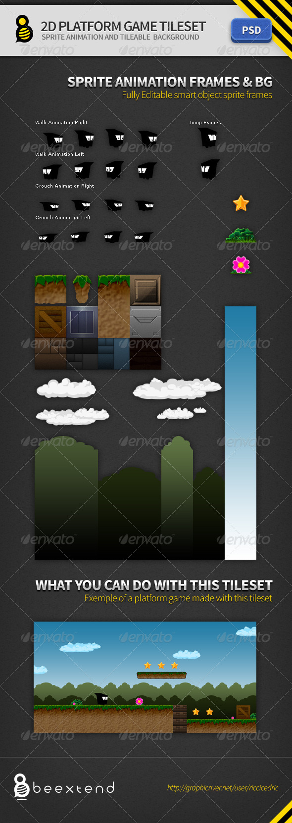 GraphicRiver 2D Platform Game Tileset 3529458