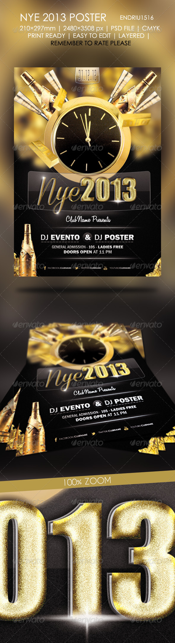 GraphicRiver New Year 2013 Poster 3529539