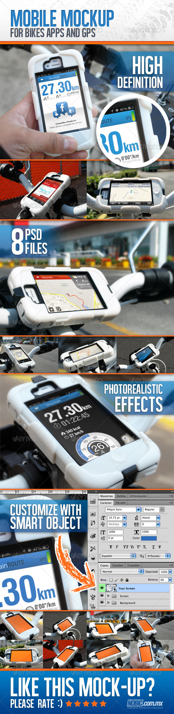 GraphicRiver Bike Mockup for Apps and GPS Devices 3529607