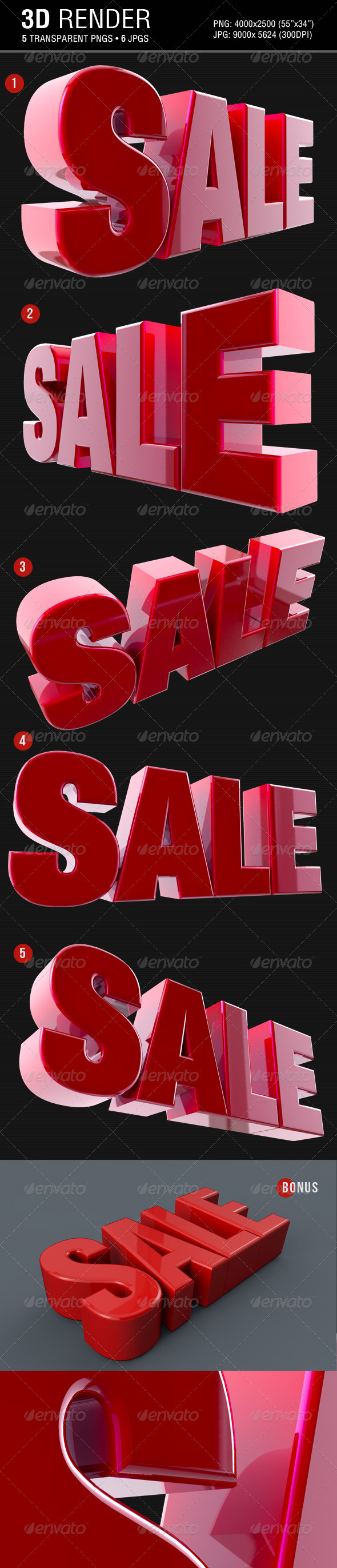 GraphicRiver Sale 3D Text Render 3529629