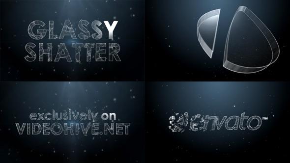 VideoHive Glassy Shatter Logo 3495168