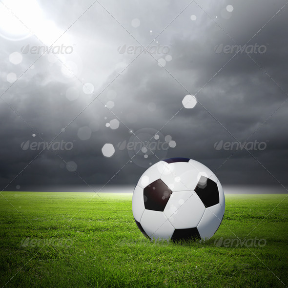 black and white soccer ball - Stock Photo - Images