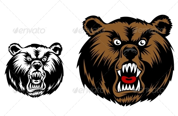 Angry Bear Mascot - Animals Characters