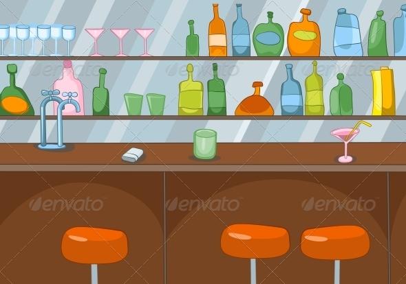 GraphicRiver Bar Cartoon 3530908