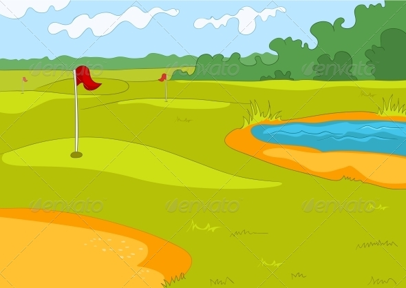 GraphicRiver Golf Field 3530976