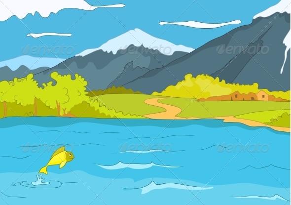 GraphicRiver Lake Shore 3530990