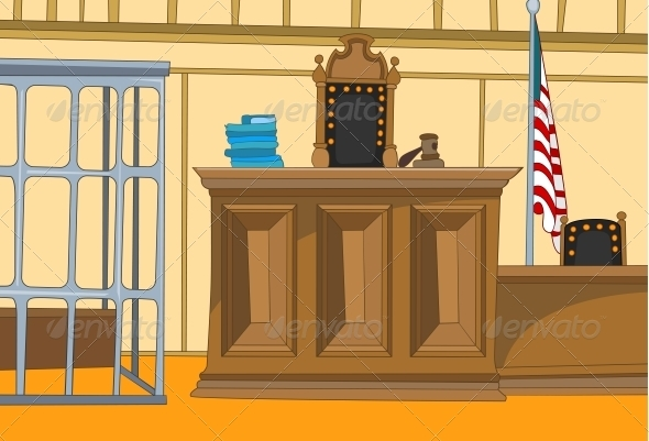 GraphicRiver Court Cartoon 3530994