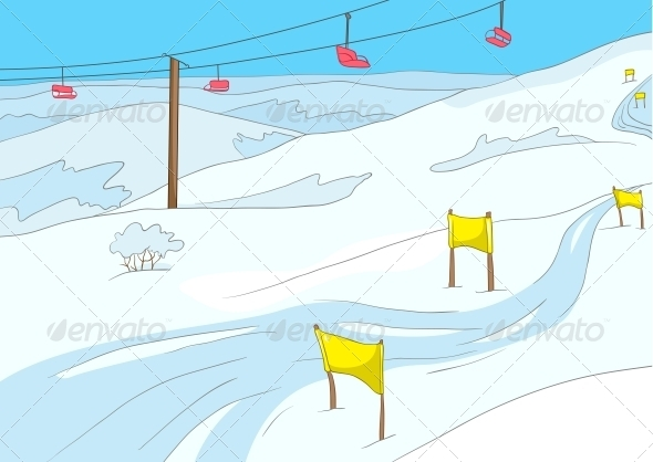 GraphicRiver Ski Resort 3531064