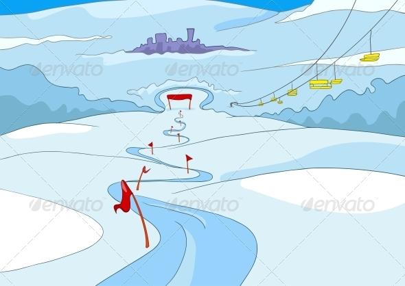 GraphicRiver Ski Resort 3531065