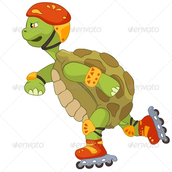 GraphicRiver Funny Turtle Roller 3531184