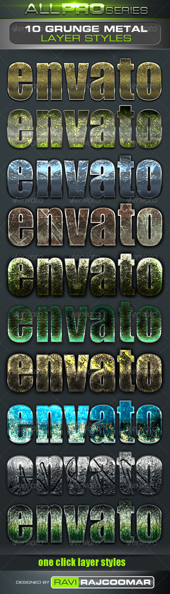 GraphicRiver Grunge Metal Text Styles 3531238