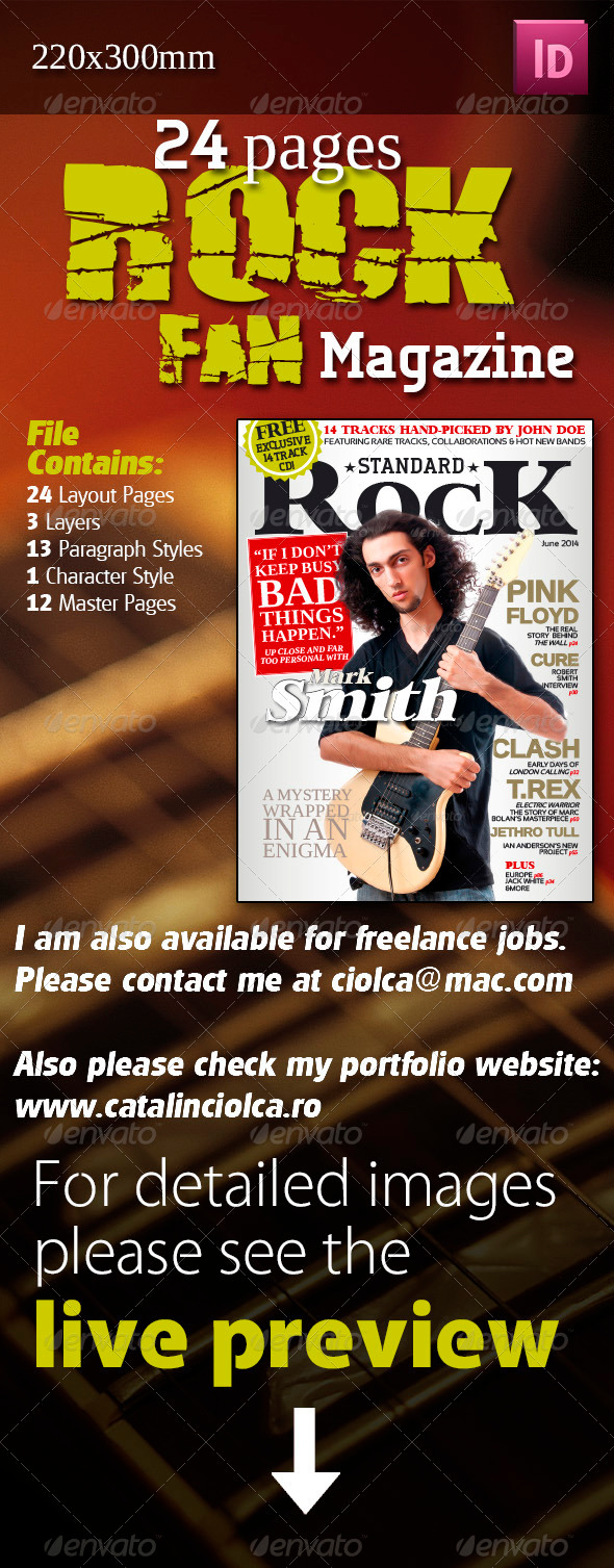 GraphicRiver 24 Pages Rock Fan Magazine 3531317