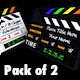 3D Clapperboard - Pack of 2