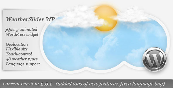 CodeCanyon WeatherSlider WP jQuery anim WordPress widget 1250593