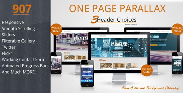 907 - Responsive One Page Parallax - Portfolio Creative