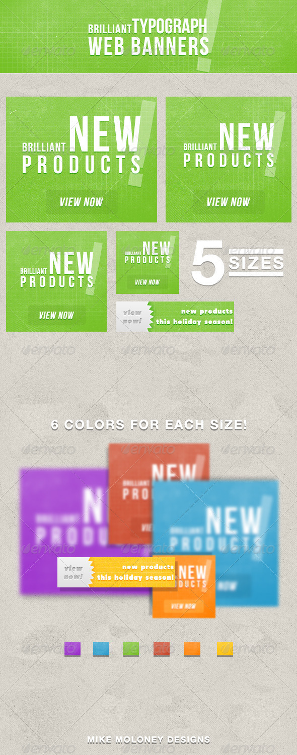 GraphicRiver Typograph Web Banners 3531611