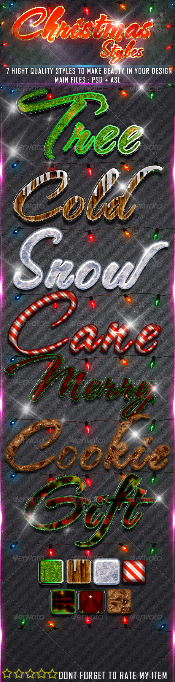 Christmas = Styles = - Text Effects Styles
