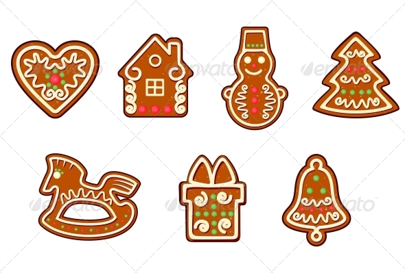 GraphicRiver Gingerbread Christmas Objects 3531714