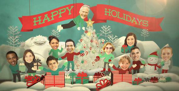 VideoHive Holiday Faces Pop Up Card 3531791