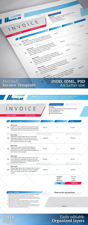 GraphicRiver Invoice Template Microlab 3531866