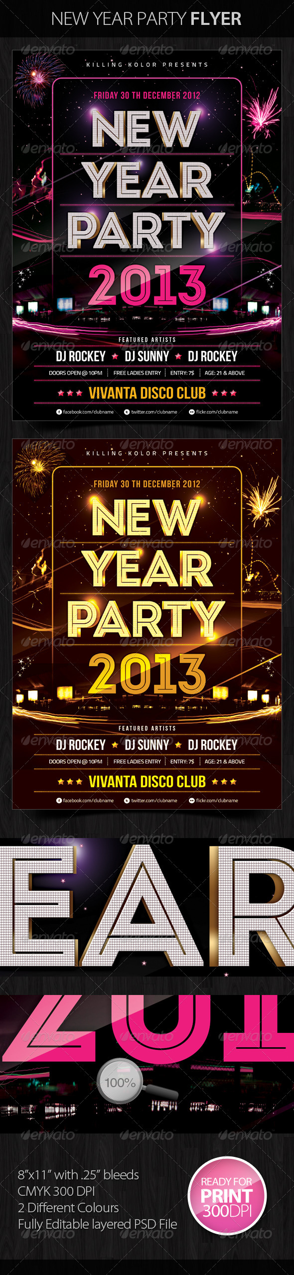 GraphicRiver New Year Party Flyer 3531932