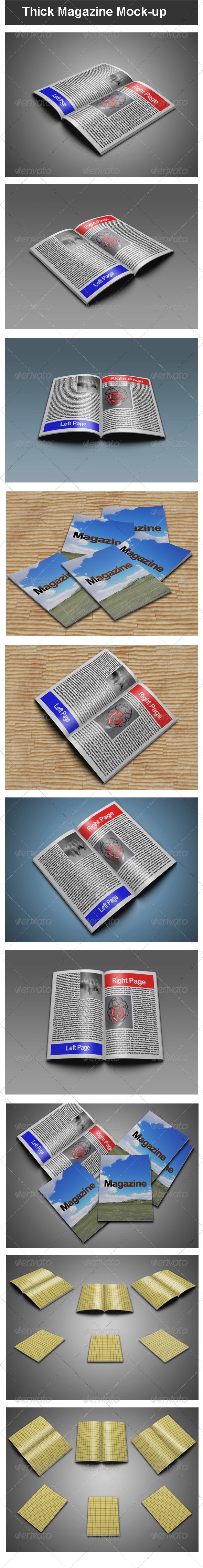 GraphicRiver Thick Magazine Mock-up 3532491