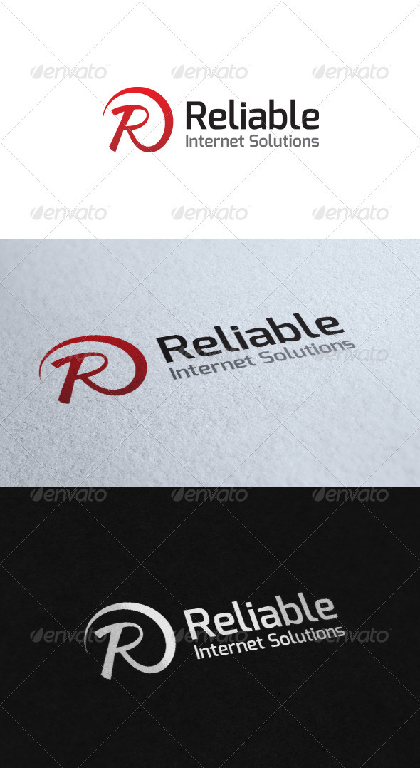 GraphicRiver Reliable Internet Solutions Logo Template 3532495