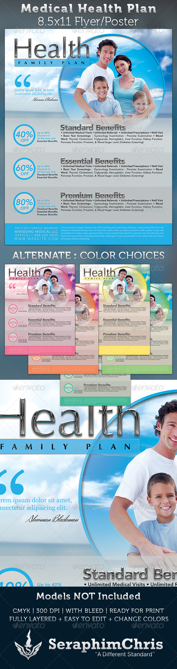 GraphicRiver Medical Health Plan Flyer Template 3532498