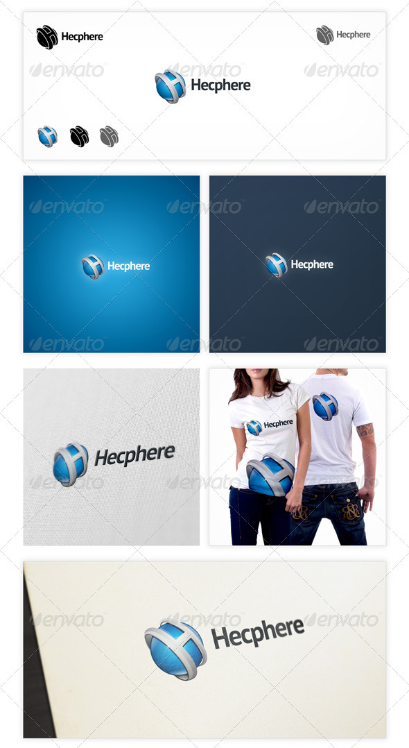 GraphicRiver Hecphere Logo Template 3532499