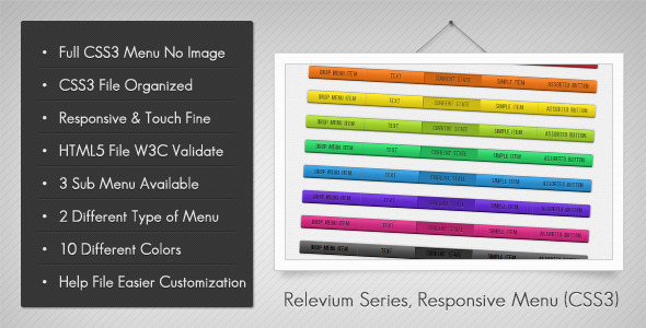 CodeCanyon Relevium Series Responsive Menu 3514835