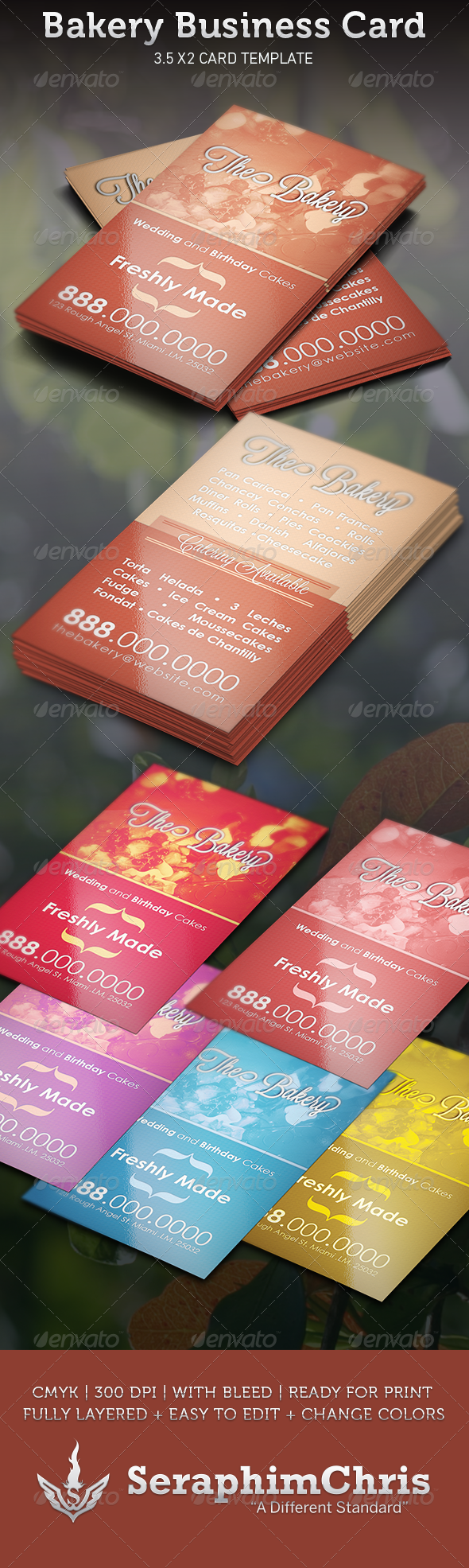 GraphicRiver Bakery Business Card Template 3533016