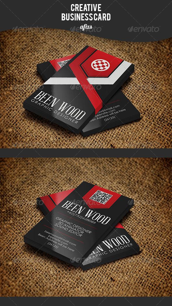 GraphicRiver Creative Ribbon Business Card 3533315