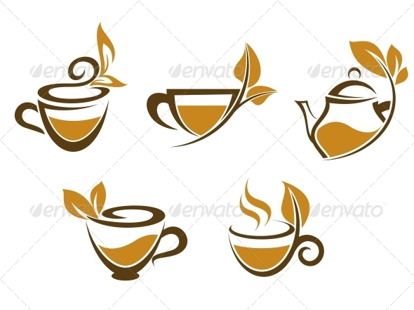 GraphicRiver Cups of Tea with Leaves 3533349