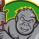 Download Vector Gorilla Ape With Lacrosse Stick Cartoon