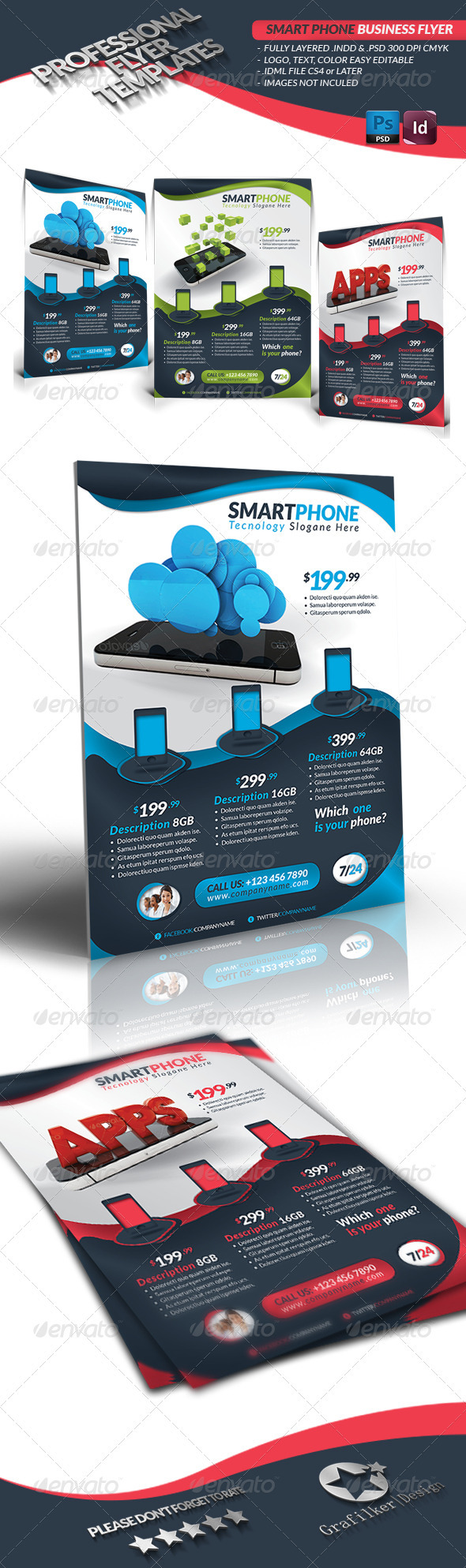GraphicRiver Smart Phone Business Flyer 3533445