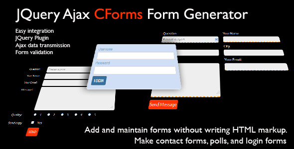 JQuery CForms Form Generator - CodeCanyon Item for Sale