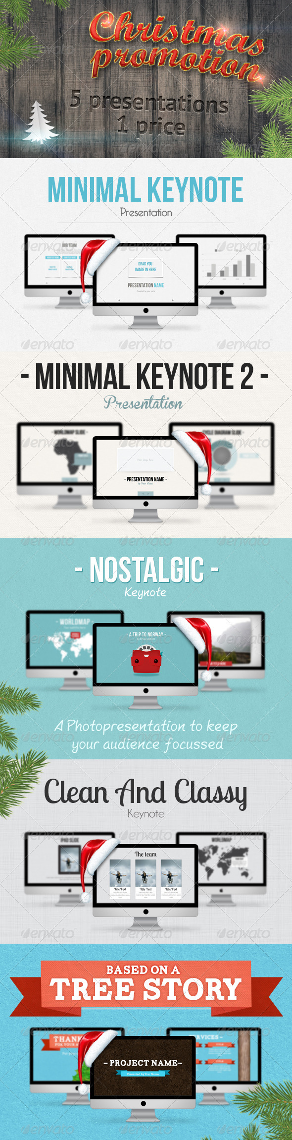 GraphicRiver 5 Keynote Christmas Promo Bundle 3533449