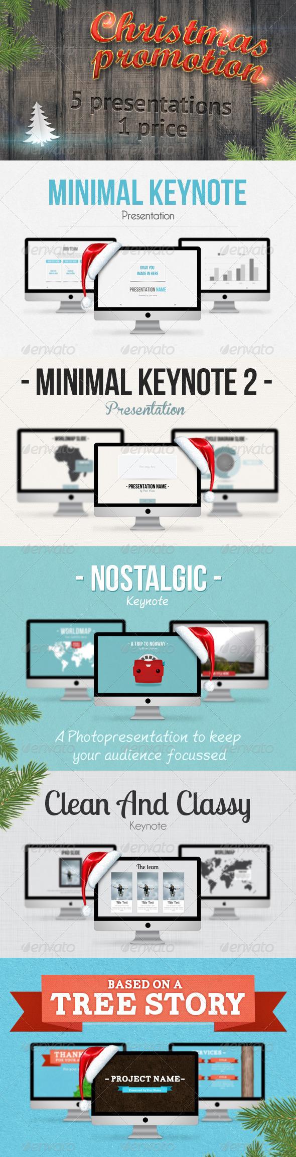 GraphicRiver 5 Keynote Christmas Promo Bundle 3533449