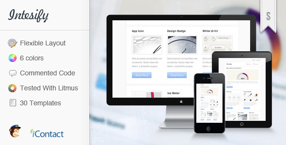 Intensify - Premium E-mail Newsletter - Newsletters Email Templates
