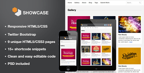 ThemeForest Showcase Responsive HTML5 Template 3519194