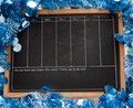 Blackboard with  New Year decoration - PhotoDune Item for Sale