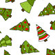 Christmas Trees Seamless Pattern - GraphicRiver Item for Sale