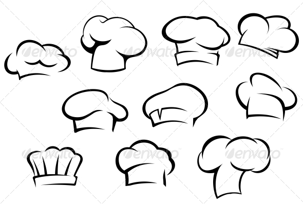 GraphicRiver White Chef Hats and Caps 3533681